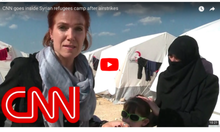 CNN goes inside Syrian refugees camp after airstrikes
